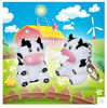 China New creative gift product cartoon animal cow led light keychain keyrings with sound factory