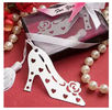 China New creative promotion gift product wedding gift high heel stainless steel bookmark factory