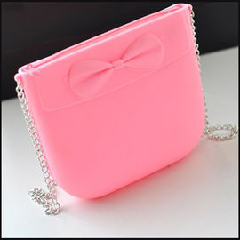 Silicon Zipper Shoulder Bag With Bowknot promotion gift