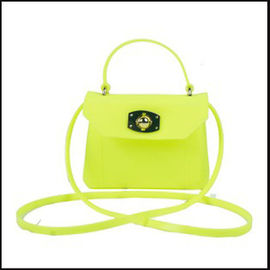 Silicon Zipper Shoulder Bag With Bowknot hnadbag