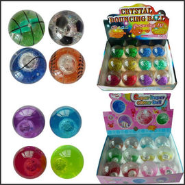 Promotion crystal led flash Bouncy bouncing ball toy printed logo