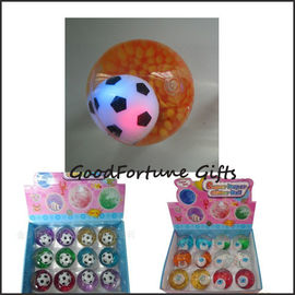 Promotion football led flash Bouncy bouncing ball toy printed logo