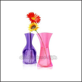 Promotional customed logo Eco Plastic fold desk portable flower vase home decor gift