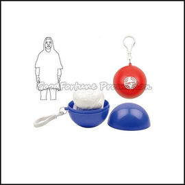 Eco customed promotional logo disposablball raincoat keychain keyrings gift
