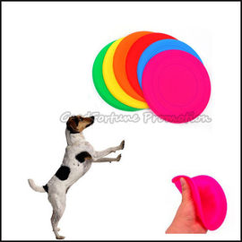 customed logo promotional Eco Silicon dog training flying disc saucer frisbee gift