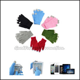 High quantity promotion printed logo warm touch screen glove for iphone ipad moblie gift