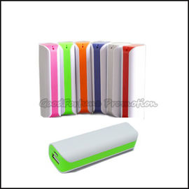 Customed promotional portable Abs coloured Neon Emergency mobile Charger printed logo gift