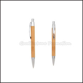 China Customed promotion Printed logo Eco Bamboo ballpoint pen business gift factory
