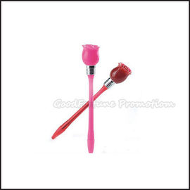 Hot Sale Cheap Promotional printed logo led light Rose Shape ballpoint pen gift