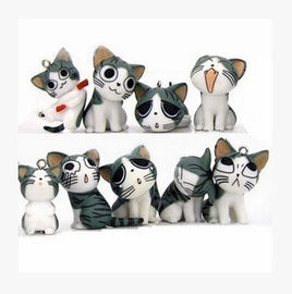 China New Lovely 9 style exprression mobile hanging accessory cat promotion gift factory