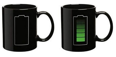 New creative gift product battery colour change  temperature sensing ceramic mugs cup