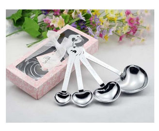 New creative promotion gift product wedding gift stainless steel measure spoons set