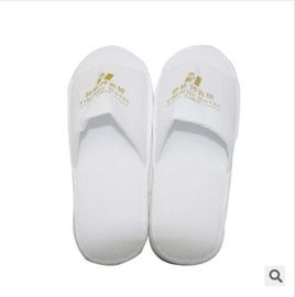 New customed logo promotional cheap hotel cotton cloth slipper