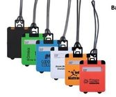 New customed print logo promotional Abs luggage shape bag luggage tags label gifts